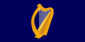 Le drapeau de la présidence irlandaise.