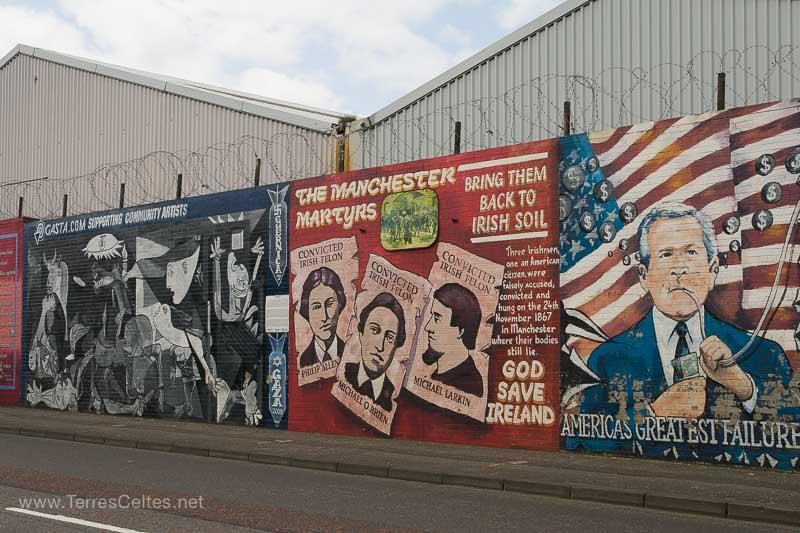 Les fresques murales de belfast terres celtes for Mural irlande