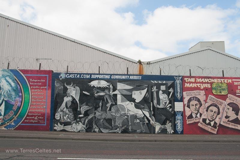 Belfast murals 10 terres celtes for Mural irlande